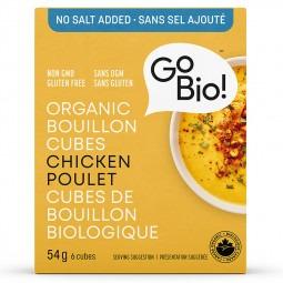 Cubes de bouillon au poulet sans sel ajouté- 66 gr.