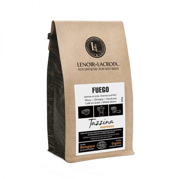 Café Fuego mi-noir moulu bio. 300 gr.